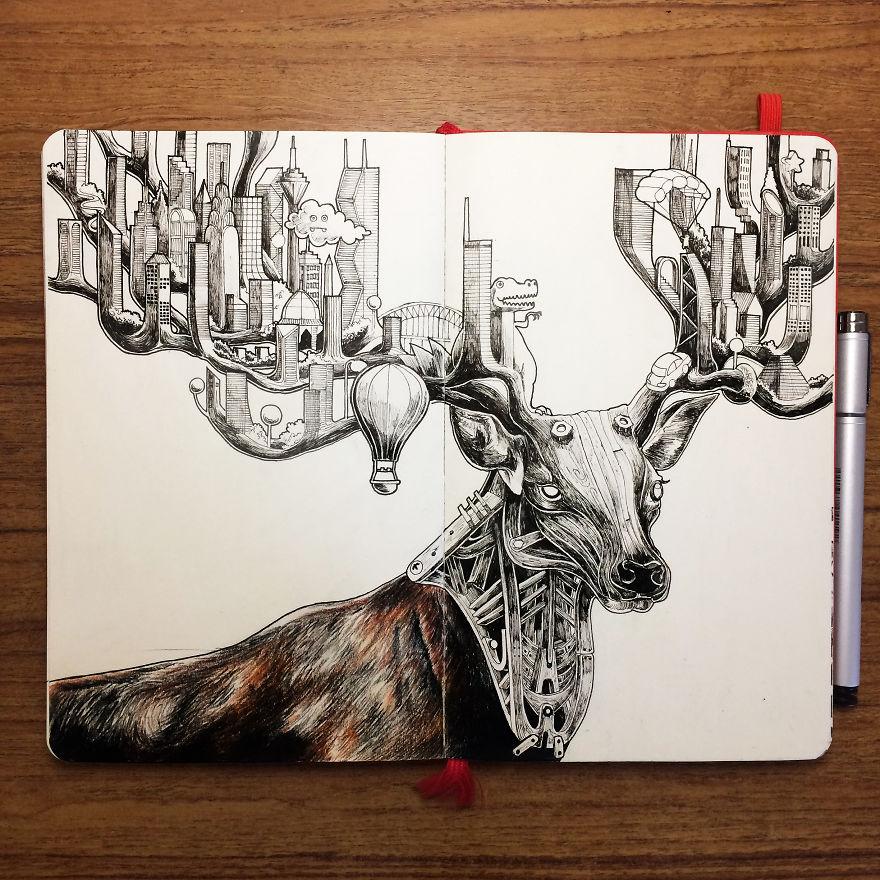 Deer Skyscraper