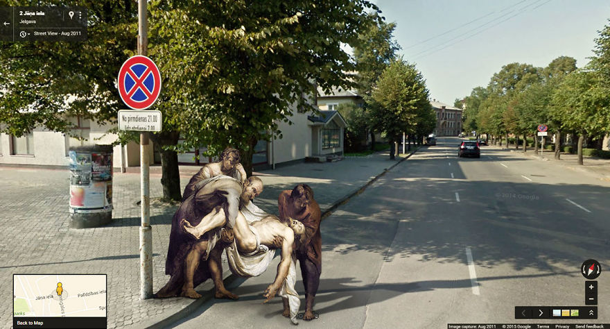 I Found Classic Paintings On The Streets With Google Street View