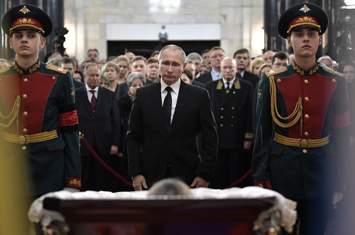 Vladimir Putin Staring At The Embassador's Corpse
