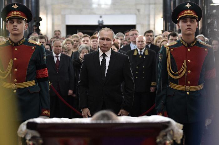 Vladimir Putin Staring At The Embassador's Corpse