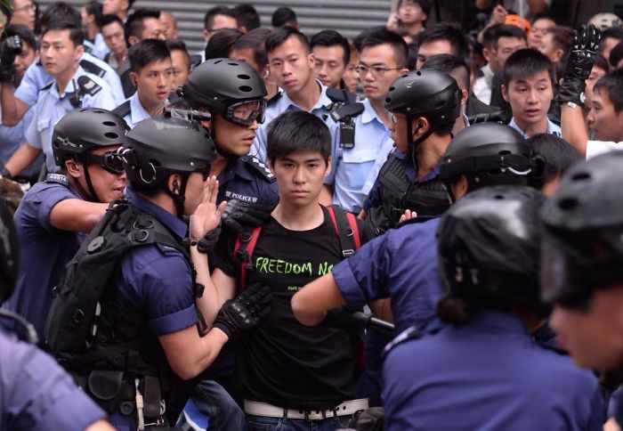 The Arrest Of Student Leader Lester Shum In Hong Kong