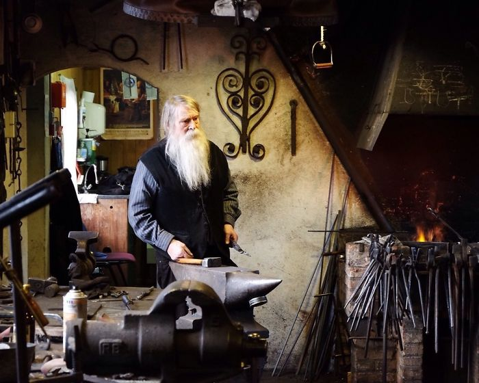 Blacksmith In A Museum