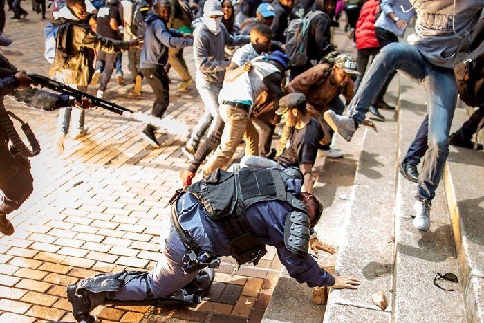 Kneeling Policeman