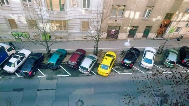 Parking Lot In Romania