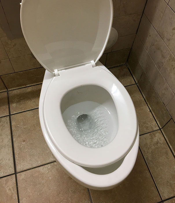 The Seat Is Smaller Than The Bowl