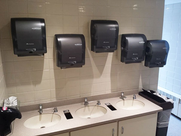 If You're Going To Invest In 5 Paper Towel Dispensers, Invest In A Contractor With Mild Pattern Recognition