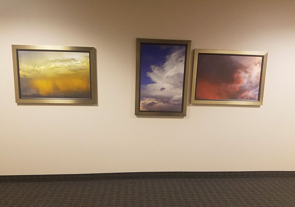 The Way These Pictures Are Hung In The Hallway At Work