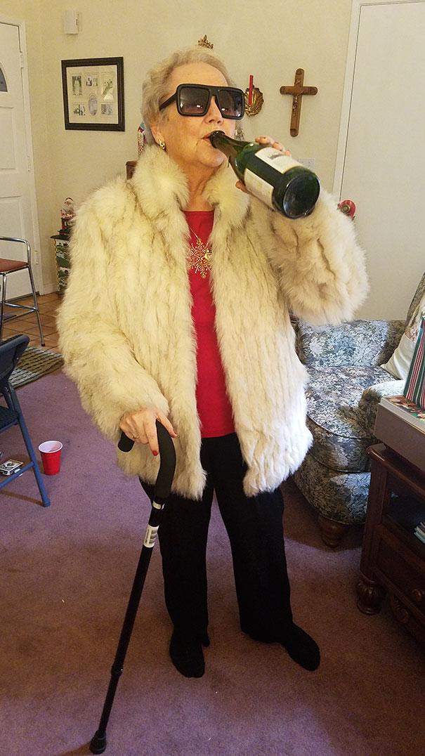 Took My New Favorite Picture Of My Grandma Tonight