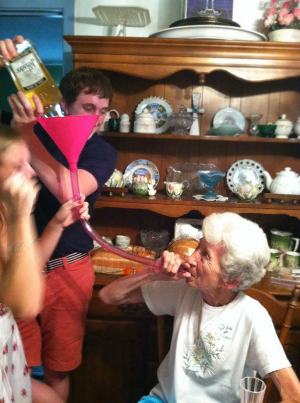 I See Your Grandma Ready To Party, And I Raise You My Grandma Partying Harder