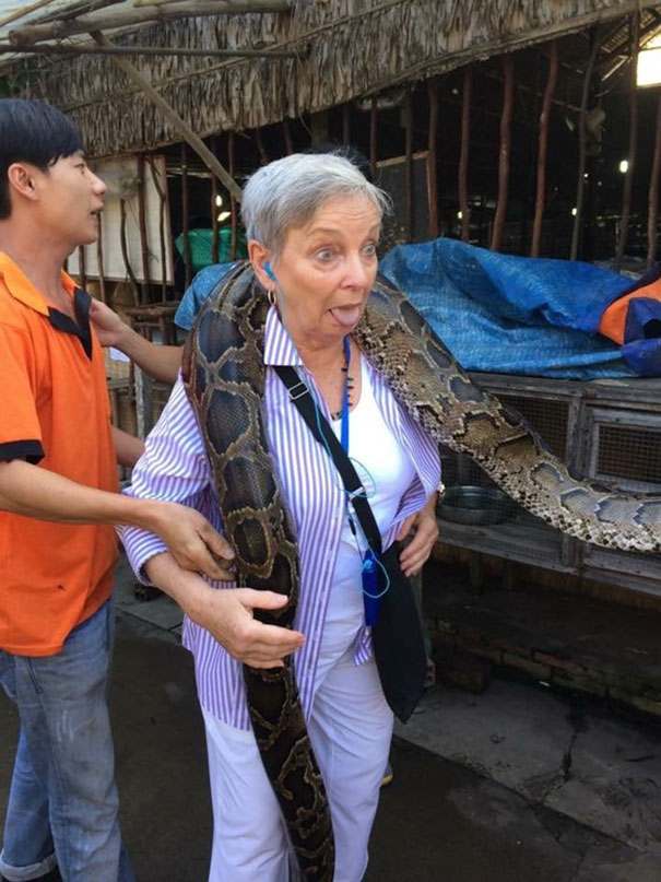 My Grandma Is 78 And Refuses To Slow Down. This Is Her On Her 14 Day Vacation In Cambodia