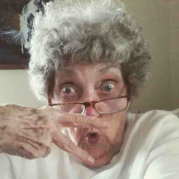 My Best Friend's Grandma (83 Years Old) Made Herself A Profile In Facebook Today. This Is Her Profile Picture
