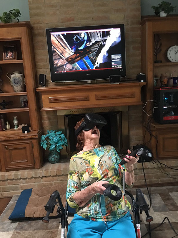 My 96-Year-Old Grandma Playing VR For The First Time. What A Time To Be Alive!