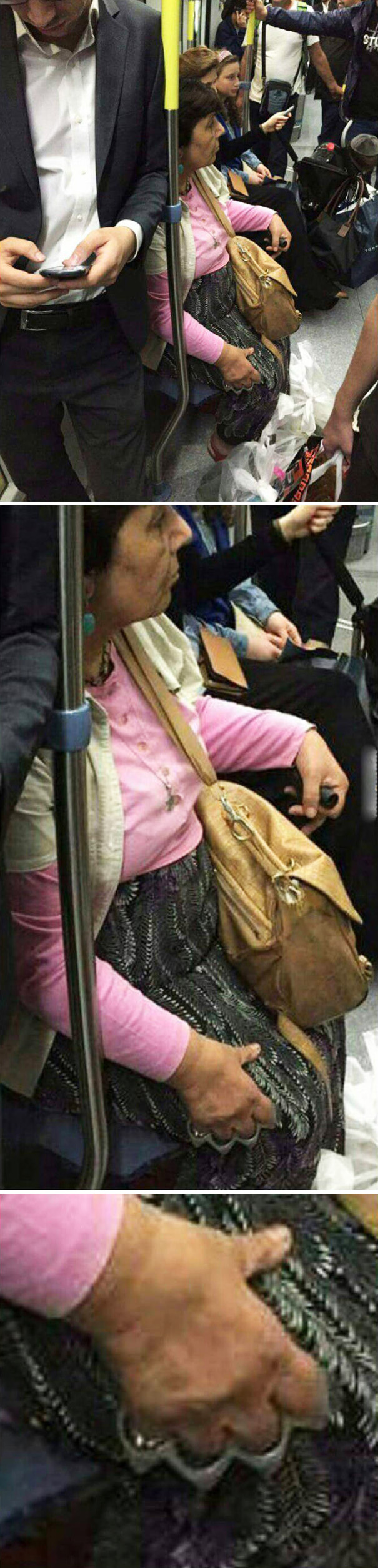 Old Lady In A Subway