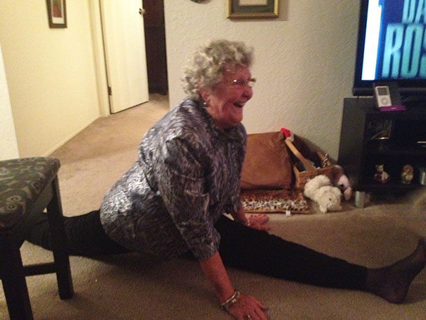 My Beautiful Grandma Doing The Splits After Her 80th Birthday Party Last Night