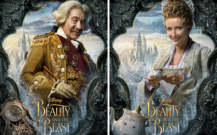 "Disney Releases New ""Beauty And The Beast"" Character Posters And They'll Come To Life If You Click On Them"