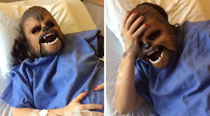 Woman Wears Chewbacca Mask During Labor, And You Really Have To See It