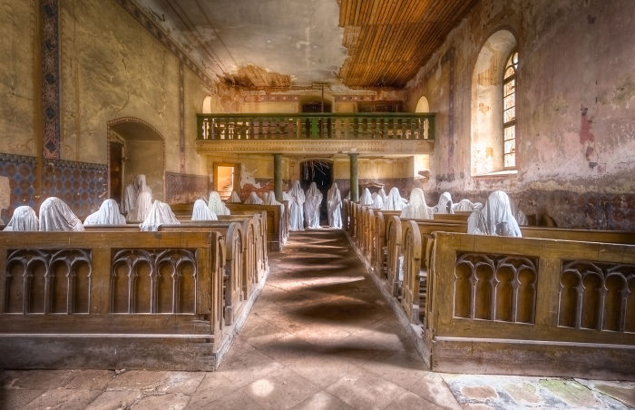 I Photographed A Scary Abandoned Church With Ghostly Figures