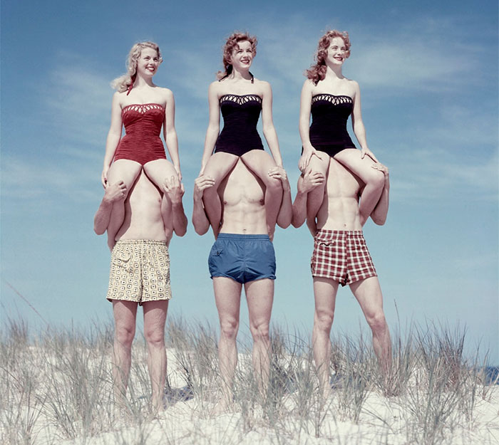 Polish Artist Gives An Uncomfortable And Surreal Twist To Corny American Photos