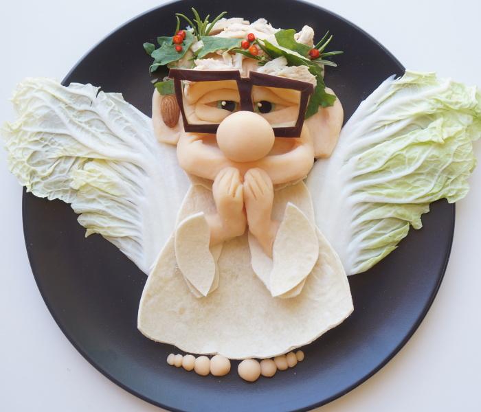 Para que mi hijo coma alimentos sanos, transformo su almuerzo en sus personajes animados favoritos