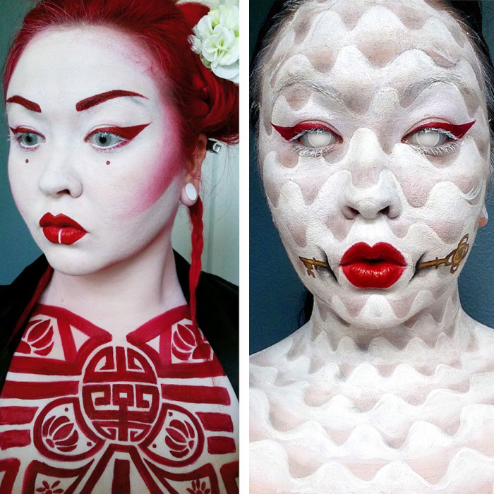 Comic And Anime Inspired Works By A Self-Taught Body Painter