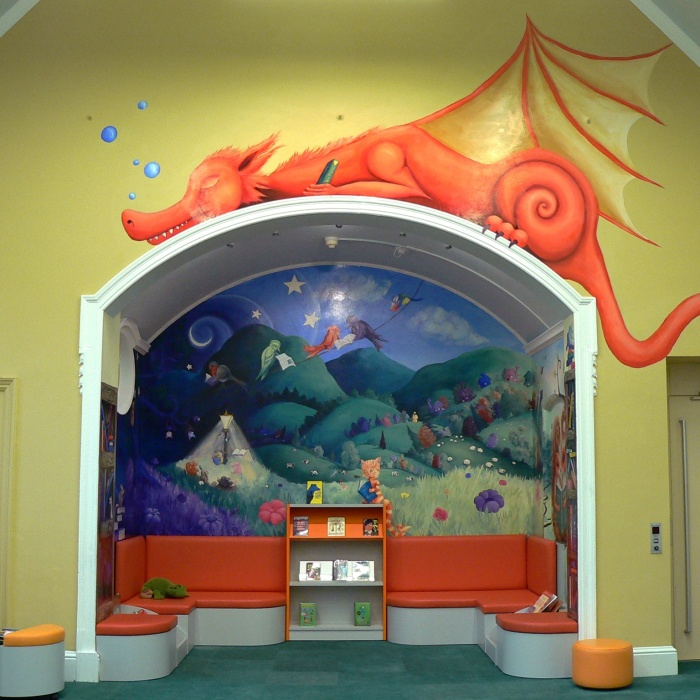 I Transformed An Alcove In The Library Into The Inside Of A Children's Book