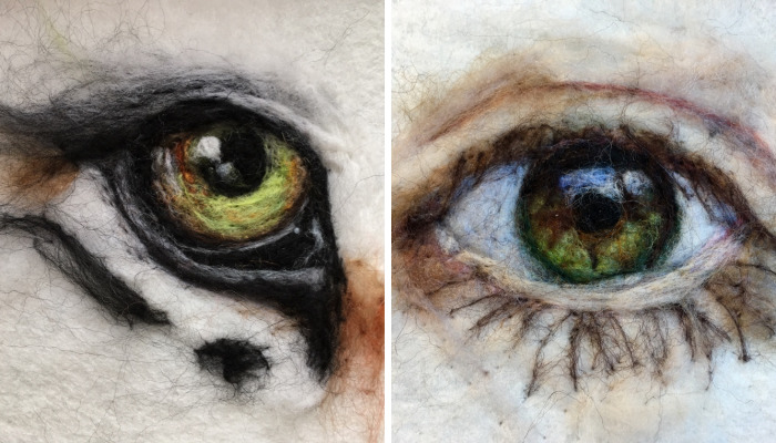 "I'm ""Painting"" 100 Eyes In 100 Days In Wool"