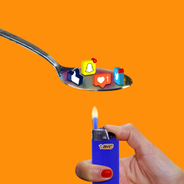 Australian Artist Creates Colourful Collages That Poke Fun At Our Addiction With Social Media