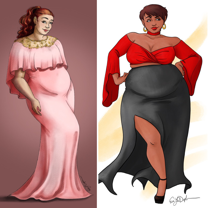 I Create Plus Size Fashion Illustrations