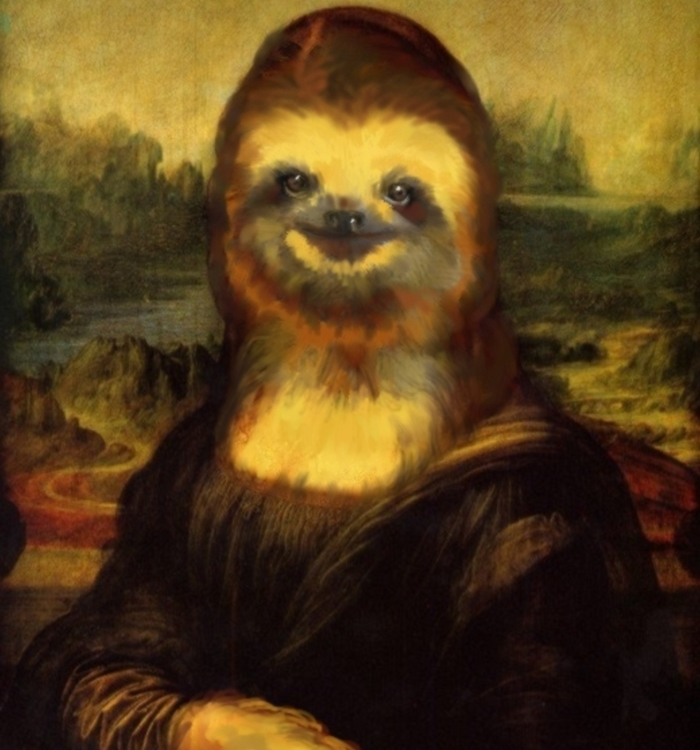 I Gave Sloth Faces To Famous Artists