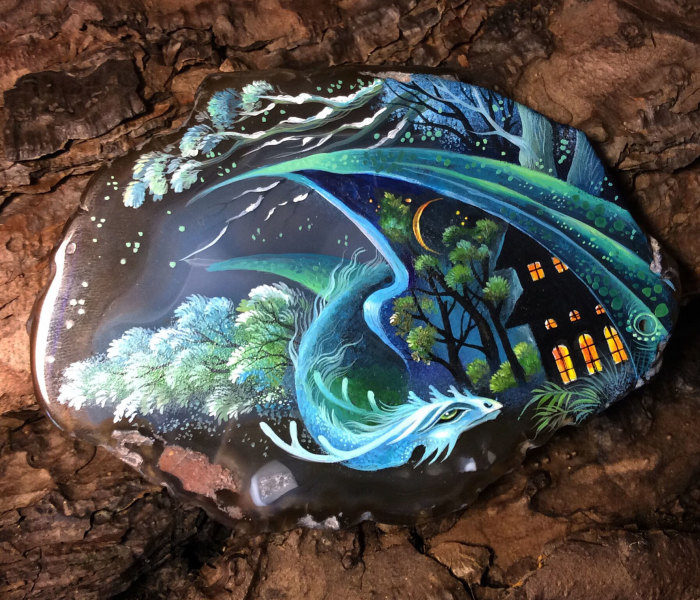 I Paint Dragons, The Ancient Keepers Of Our Dreams On Stones