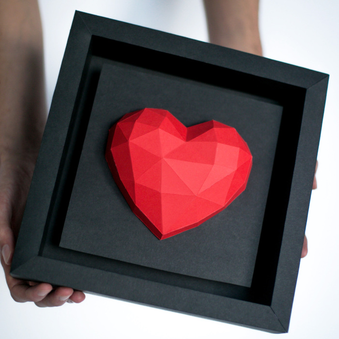 Diy Paper Hearts For Valentine's Day. Share Your Love