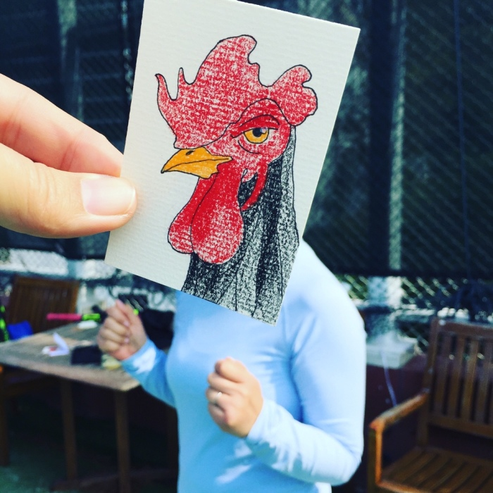 I Drew Roosters For Chinese New Year