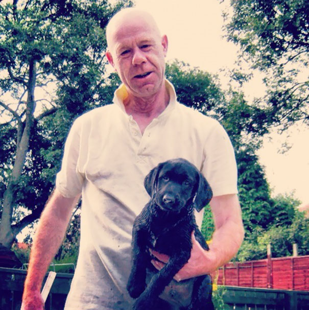 """My Dad Who Claimed """"he Doesn't Want A Dog Again"""". They Go Everywhere Together"""
