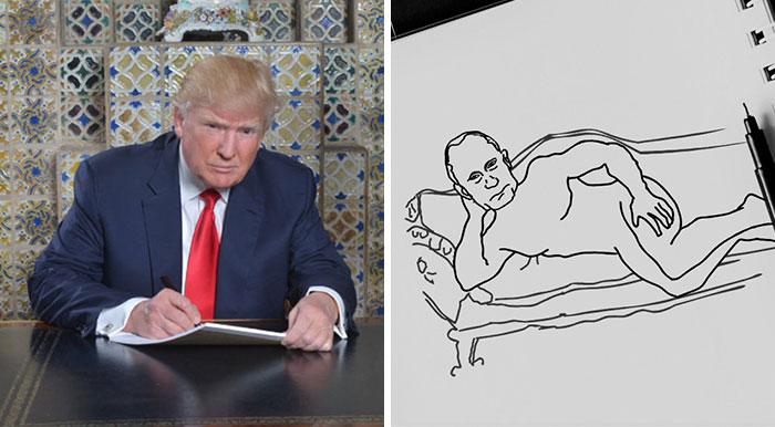 """Trump tuitea una foto suya """"escribiendo"""" su discurso inaugural e internet responde sin piedad"""