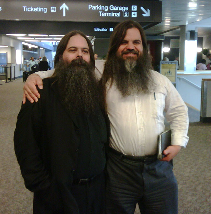 I Finally Meet Longtime Virtual Pal Steve Burnett. Other People Stare In Horror At The Uncanny Duplication.