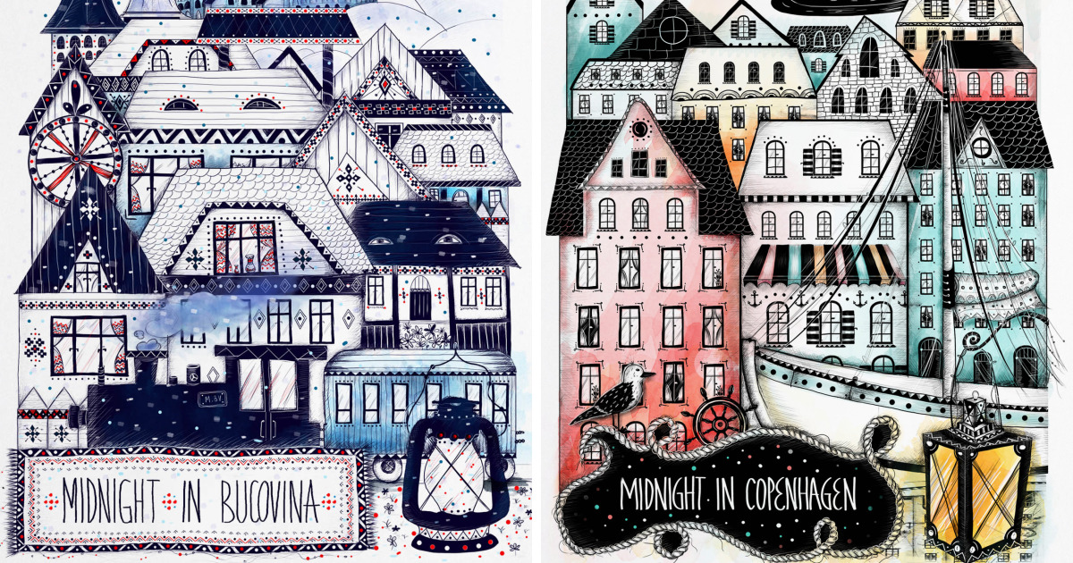 I Illustrated Cities That I Visited And Loved