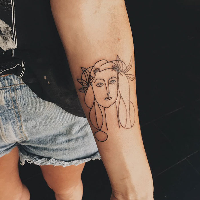 14 classical art inspired tattoos you never knew you for Picasso tattoo artist