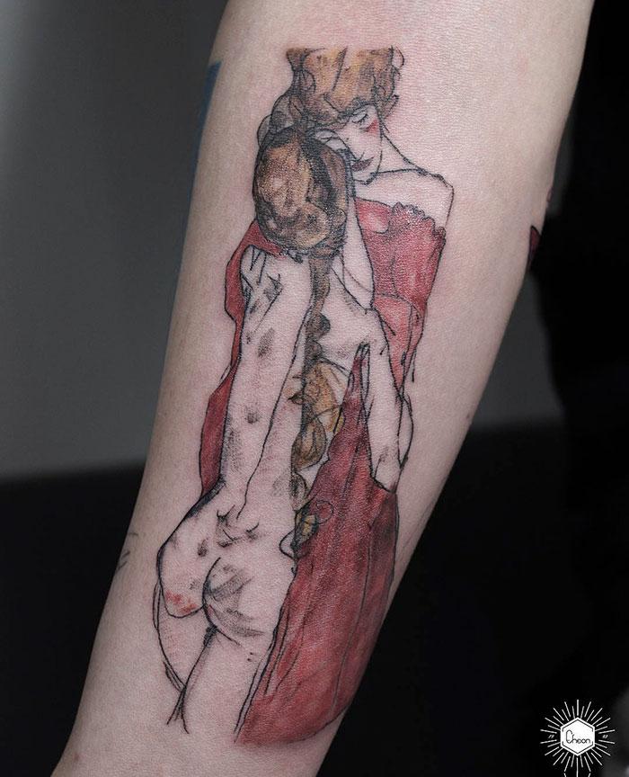 Mutter Und Tochter, Egon Schiele