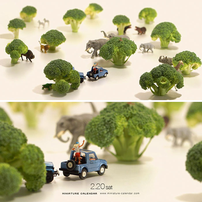 Fun Miniature Dioramas By Japanese Artist Whos Been Creating - Japanese artist creates fun miniature dioramas everyday for five years