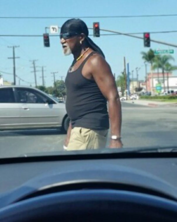 Was Driving Through Compton, And I Think I Found Hulk Hogan's Brother From Another Mother