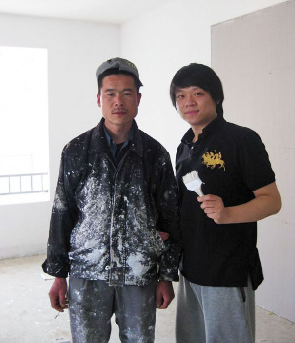 My buddy is getting his place painted by Asian Brad Pitt