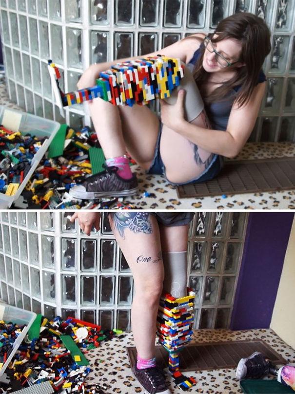 Amputee Prosthetic Leg Made With Lego Bricks