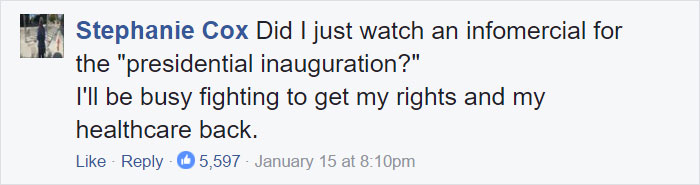Trump Inauguration Excuses