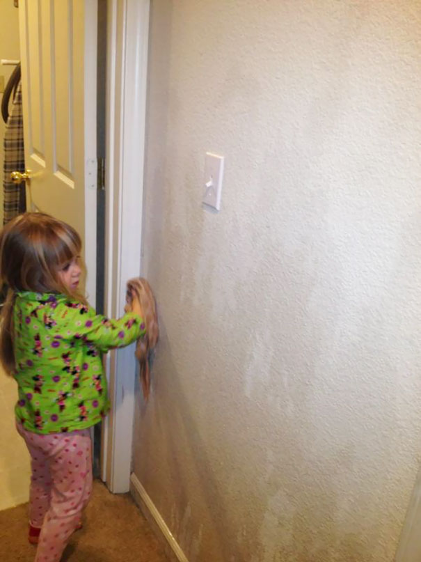 While I Appreciate My Daughter's Attempt, This Is Not What I Meant When I Asked For Her Help With Cleaning The House