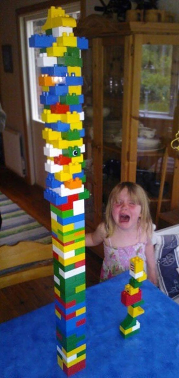 Well, Don't Say You Want A Lego Tower Tournament If You Can't Handle Loosing...