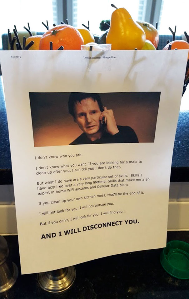 Father Leaves His Messy Teens The Perfect Threatening Note