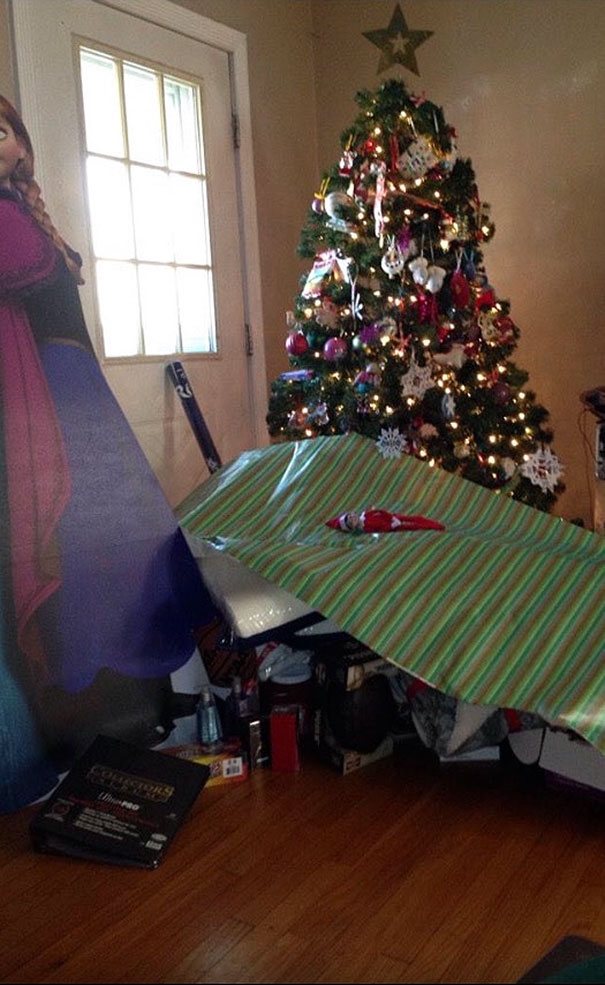 My Dad Hates Wrapping Presents, So He Just...