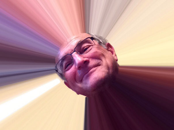 "My Dad Emailed Me This Picture Of Himself After Getting An Ipad, The Title ""Here Comes The Sun"""