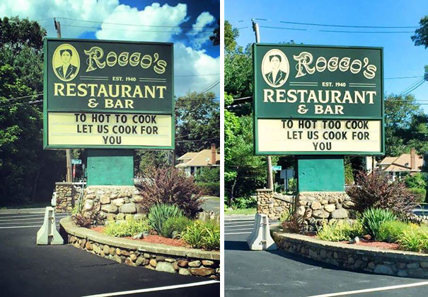 A Friend Of Mine Called A Restaurant About A Spelling Mistake On Their Sign. And They Changed It