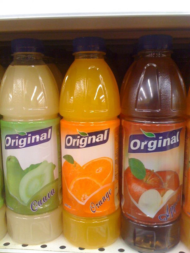 Same Juice Brand Has Three Different Spellings